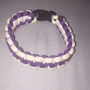 Jewelry - A purple and white bracelet